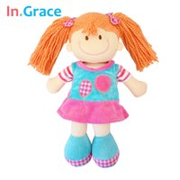 balloon statues - In Grace sweet pink dolls for girls plush and stuffed handmade beauty doll with balloon dress cute toys for children girl inch