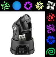 Wholesale 15W RGB CH LED DMX Mini RGB Club DJ Stage Lighting Party Moving Head for Family Party Club Pub Show