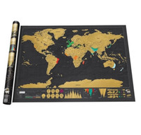 Wholesale Black Luxury Scratch World Map Cylinder Packing Home Decor Gift more complicated details and more style and larger