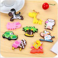 Wholesale 100pcs Silicon Gel magnetic fridge magnet Animal Magnets Cute Cartoon Animal Home Decor sticker
