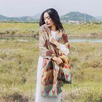 Wholesale Super warm shawl knitting wool scarf Cotton Pashmina Winter long thickening collar