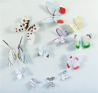 balcony post - 5 sets total pieces Creative D stereo butterfly wall stick colorful living room balcony glass stickers