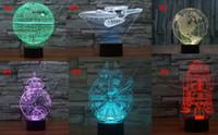 Wholesale 7 colors changing Star Wars D Led Lights Cubes Christmas Lights D Battleship Modern Lighting LED Night Light models to choose