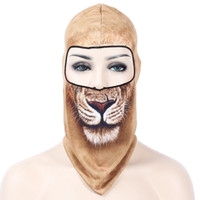 Unisex Printed Spring & Fall New 3D Outdoor Bicycle Bike Cycling Motorcycle Sports Ski Hats Balaclava Snowboard Party Halloween Protect Full Face Mask 1B