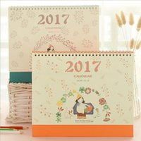 Wholesale quot Wind Girl quot Sep to Dec Cute Desk Calendar Big Size Scheduler Agenda Monthly Planner Kawaii Korean Checklist Memo Gift