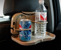 Wholesale Auto counter for folding back seat tray plates table shelf vehicle mounted water beverage holder drinks