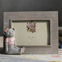 baby bears pictures - 6inch Cute Bear Painting Resin Baby Picture Frames Home Decor Photo Frames Bridal Shower Wedding Favor Gifts