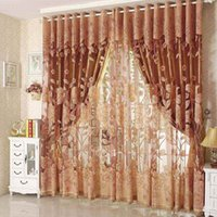 Wholesale Hot high quality modern tulle for window curtain embroidered voile sheer Curtains for living room the bedroom shade drapes