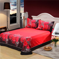 Cheap SaLin 3D Red Rose Bedding Sets Bed Linen Bed Sheets Wolf Tiger Duvet Cover Marilyn Monroe Comforter Sets Queen Size Bedclothes