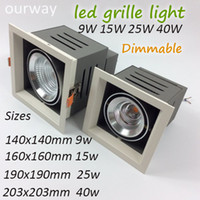 Wholesale Ourway Lighting Dimmable led Grille Light W W W W for Display Hall Shop Store Square High Ceiling Lamp