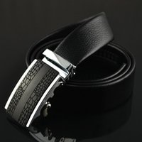 auto customizing - customize optional buckles Pure auto buckle formal black genuine leather fashion designer men belt hot sale