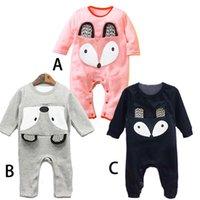 baby climbing - 2016 Autumn Fox Onesies Cute Baby Boys Girls Cartoon Romper Baby Boy Long Sleeve Climb Clothes Jumpsuits
