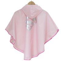 Wholesale 2016 high quality Kids Rain Coat children Raincoat Rainwear Rainsuit Kids Waterproof Superhero Raincoat DHL free ship