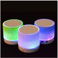 Wholesale Subwoofer wireless bluetooth stereo portable bluetooth speaker led inserted U disk TF card gift colorful led outdoor mini bluetooth speaker
