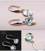 Wholesale Women Austrian Crystal Drop Korean Zircon Bridal Earrings Big Fashion Wedding Dangle Earring Gift Luxury Jewelry Y047