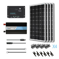 Wholesale Solar Panel Kit Watts Off Grid Inverter W Charge Controller Mount