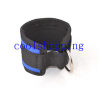 ankle strap cable - Blue Ankle Anchor Strap D ring Multi Gym Cable Attachment Thigh Leg Pulley Strap Lifting Fitness Exercise Tubing Strength