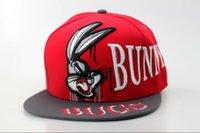 beach bugs - Bugs Bunny Hat Cap Cool Cartoon Snapback Flat Brim Snapbacks Hats Embroidery Ball Caps Summer Beach Sun Cap