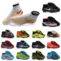 Wholesale New mens Football Boots SupERflys Original MagISta OBra FG Soccer Cleats High Ankle ACC SupERfly Botas de futbol Soccer Shoes