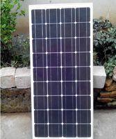 Panneau solaire monocristallin haute puissance 100W avec connecteurs MC4 et boîte de jonction pour batterie 12v charge directe