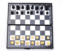 chess - The pre sale kid s gift Folding Champions Chess Set in Travel Magnetic Chess and Checkers Set Draughts