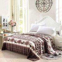 Wholesale Brand new hot x230cm flannel blanket men adult big warm blanket super soft wool blanket on the bed