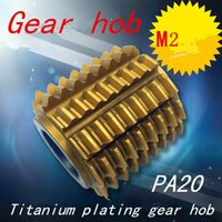 Wholesale M2 modulus Pressure Angle degrees mm Inner hole Titanium plating Gear hob