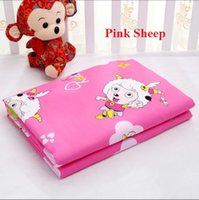 Wholesale Pink sheep cartoon design diapering pads changing covers cm waterproof sheet cover resuable diaper newborn baby changing table mat