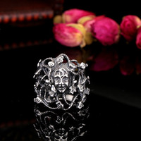 Wholesale Stainless Steel Ring Fashion Men s Snake Medusa Ring For Party Man Cool Jewelry