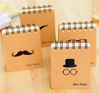 Wholesale New Mini Fashion Men Style Korean stationery Beard coil Paper Notebook Portable Notepad