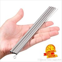 Wholesale 4 Pack of Straws Stainless Steel Drinking Reusable One Brush Set Cleaning for Yeti Tumbler Reusable stainless steel straw