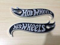 acura emblem black - Exterior Accessories Emblems pair Chrome amp BLACK Hot Wheels Flames Emblem Badge Hot Rod Mustang Camaro
