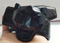 al por mayor correa para mujer negra xl-2017 correa caliente del zurriago Q del diseñador del color del negro del cuero genuino de la marca de fábrica P de la marca de fábrica nueva para los hombres Cinturones de lujo para el regalo