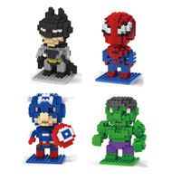 Wholesale DIY Assembly Cartoon Puzzles Mini ABS Plastic The Avengers Micky Kids Puzzles for Childrens Early Education R003