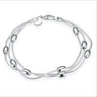 Bracelet à trois fils en argent 925 Bracelet à chaînes en Europe Bracelet en argent 925 à l'infini Bracelets Accessoires Bijoux