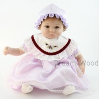 baby colth - 45cm Reborn Baby Doll Handmade Baby Doll Simulation Newborn Baby Girl Toy Gift Colth Body Silicone Head