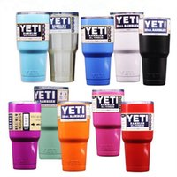 Wholesale Yeti Cups Cooler YETI Rambler Stainless Steel Tumbler Travel Vehicle Beer Mug Double Wall Bilayer Vacuum Insulated