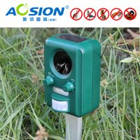 Wholesale repel AOSION Solar ultrasonic animal repeller Bats Birds Dogs Cats Repeller Repellent ultrasonic signal and flashing frighten animals