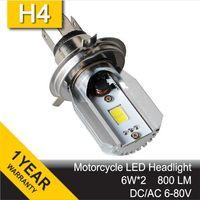 Wholesale COB LED Motorcycle DC AC V Motorbike Headlight H4 Motor Bike Fog Lamp Bulb Light Moped Scooter ATV Hi Lo Beam Bixenon