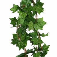 Wholesale 5pcs Artificial Plants Big Leaf Sleaf Ivy Vine Garland Hanging Plants Fake Foliage Flowers Wedding Party Home Garland Decorations feet