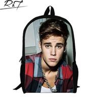 Wholesale Justin Bieber bag New Kids Backpack Men s Backpack Printing Backpack Schoolbag College School Backpacks boys Justin Bieber