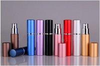 Wholesale 10ml Mini Portable Refillable Perfume Atomizer Aluminum Colorful Spray Bottle Empty Perfume Bottles b020