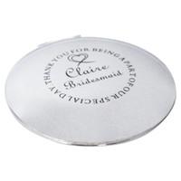 Wholesale vintage Mirror Personalised Engraved Compact Handbag Mirror Wedding Bridesmaid Thank You Gift