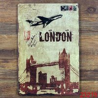 Wholesale WITE ME LONDON Tin Sign Bar pub home Wall Decor Retro Metal Art Poster
