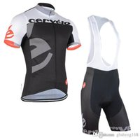 Wholesale Cervelo Cycling Jerseys Set Short Sleeve Black White Cycling Suit With Padded Bib None Bib Pants Summer Breathable Bicycle Skinsuit