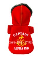 alpha dog - New Cute USA captain Alpha Pet Dogs Coat By china post Dogs clothes Cheap coat long