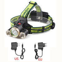 Wholesale 8000 Lumens CREE T6 XPE LED Modes Zoomable Headlamp Headlight Light EU US Charger