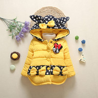 Wholesale Winter coat Children s Parkas Winter Jackets for girls Clothing for girls Mickey Mouse jacket Clothes for baby girls kids Years