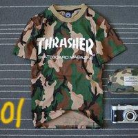 Cheap new arrival summer short sleeve men thrasher t shirt camouflage skateboard brand hip hop high quality top t-shirts