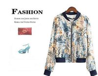 letterman jackets - 2016 New Fall Woman Letterman Varsity Baseball Jacket Streetwear Female Hip Hop Chaquetas Bomber Jackets Digital Floral Print Coat